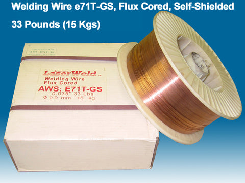 "Welding Wire E71T-GS 0.035"" (0.9 mm), 33 lb Spool"