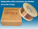 "Welding Wire ER70S-6 0.035"" (0.9 mm), 33 lb Spool"