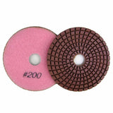 Wet Diamond Polish Pads 4 in. for Marble and Granite Polishing (8 Grits)