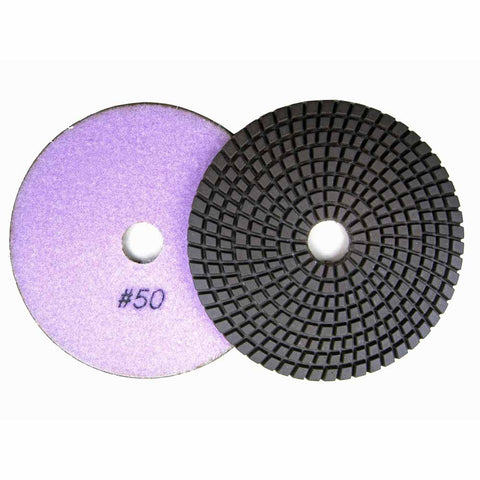 Wet Diamond Polish Pads 5 in. for Granite and Marble Polishing (8 Grits)