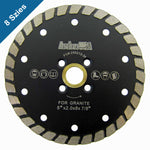 Wide Turbo Diamond Blades for Masonry Cutting