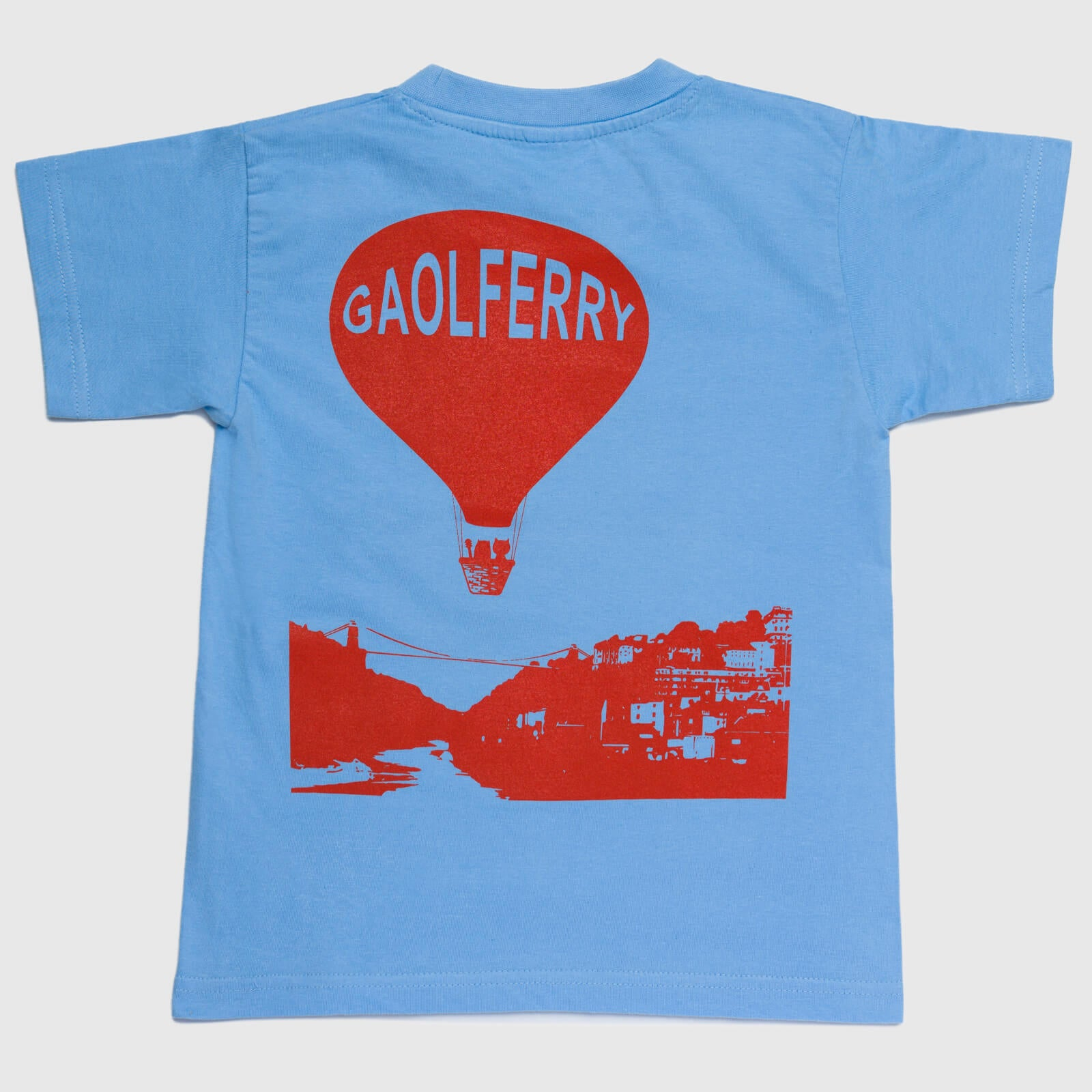 gaolferry sky blue t-shirt with screen printed image of the owl and the pussycat