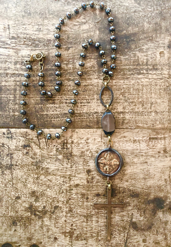 Old World Hematite Necklace