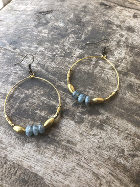 Boho Glam Hoop Earrings