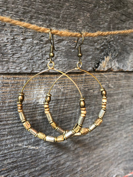 Mojo Matte Silver & Gold Earrings