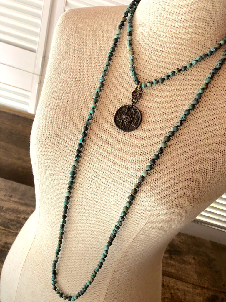 Rustic Old World Wrap Necklace