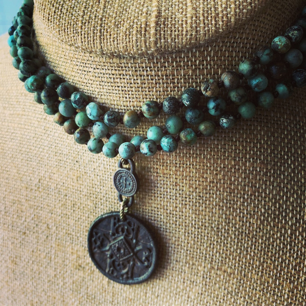 old world cross vintage necklace