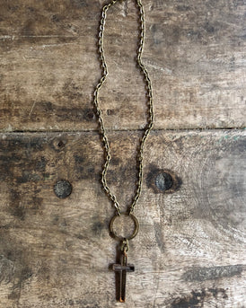 rusty cross vintage choker