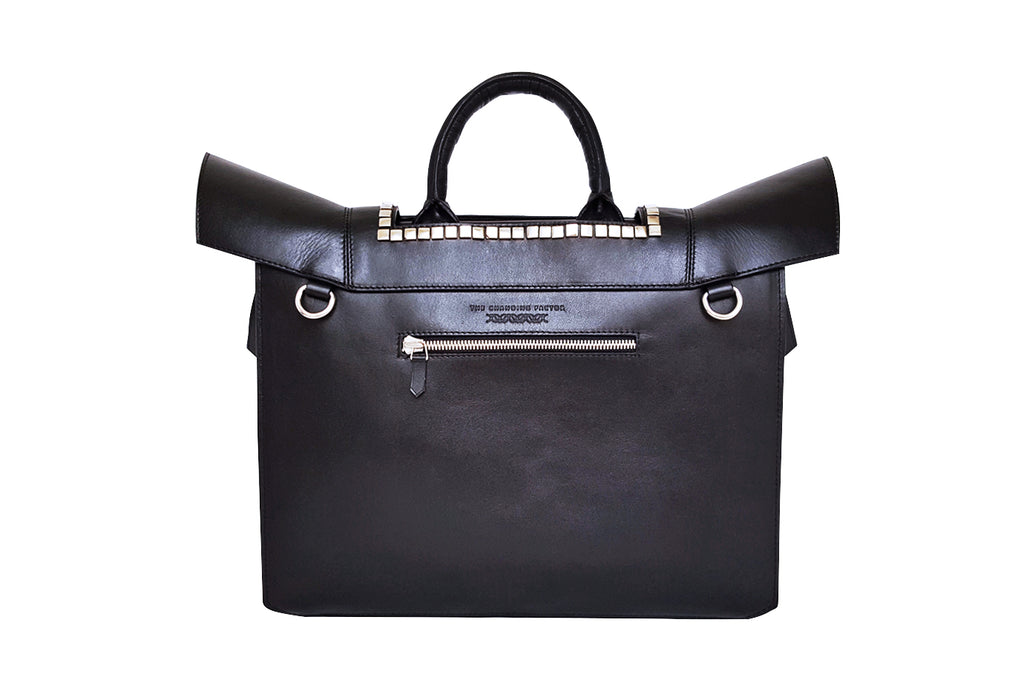 Women's Black Work Briefcase Office with Adjustable Shoulder Strap