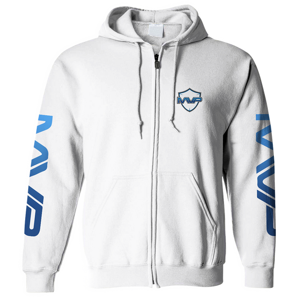 MVP ZIP HOODIE - WHITE - MVP Global Store