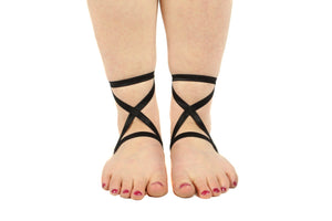 Criss Cross Skinny Satin Footsies