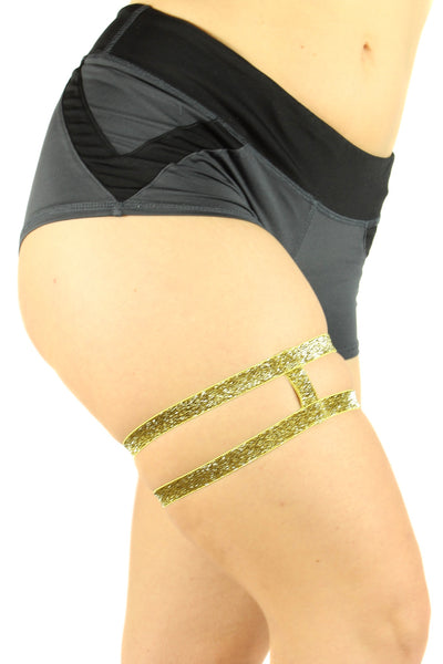Thighsies Double Strap Glitter