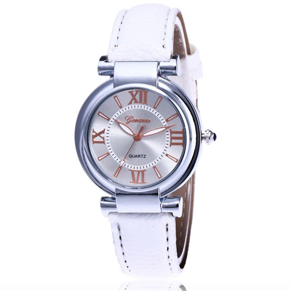 ac0c40df5dd ... Hot Selling New Fashion Geneva Watch Casual Women Leather Wrist Watch  Luxury Quartz Watch Gift Relogio ...