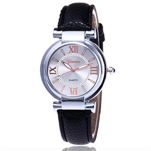 7c11889b99f Hot Selling New Fashion Geneva Watch Casual Women Leather Wrist Watch  Luxury Quartz Watch Gift Relogio