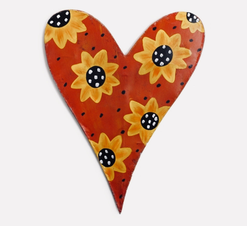 Door Decor Screenings Sunflower Heart