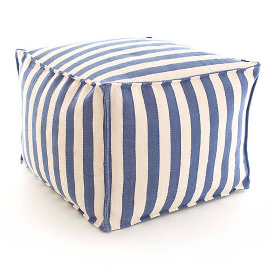 Dash & Albert Trimaran Stripe Pouf
