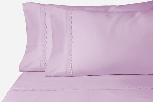 Eyelet Purple Sheet Set
