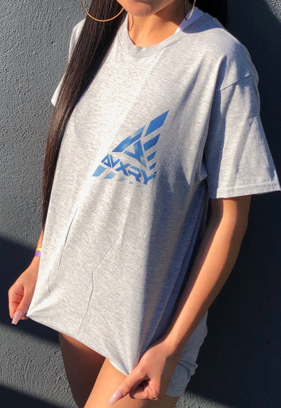 Small Chest Logo Tee - Grey