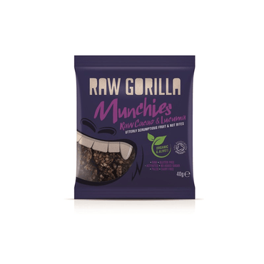 Raw Gorilla Organic Cacao & Lucuma Munchies 40g (Pack of 10)