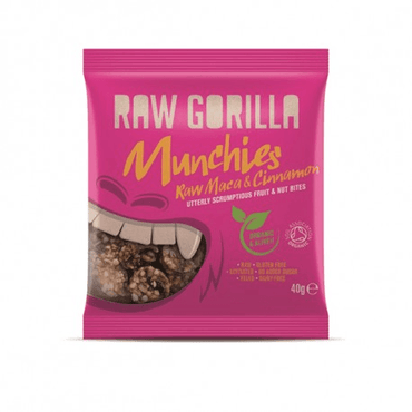 Raw Gorilla Organic Maca & Cinnamon Munchies 40g (Pack of 10)