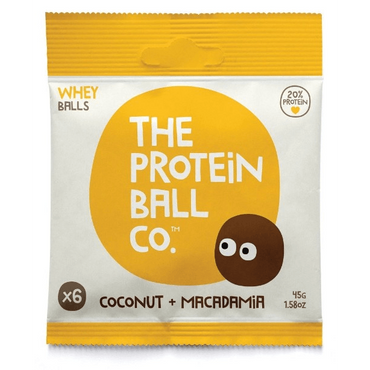 The Protein Ball Co Whey Coconut & Macadamia Protein balls 45g (Pack of 10)