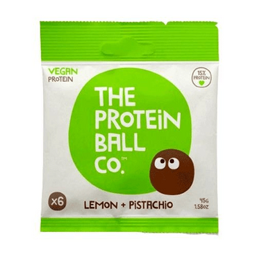 The Protein Ball Co Vegan Protein balls - Lemon & Pistachio Protein Balls x 45g (Pack of 10)