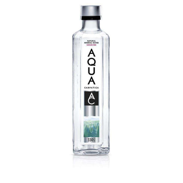 AQUA Carpatica Still Natural Mineral Water 330ml GLASS Sodium Free (Pack of 12)