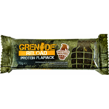 Grenade Reload Flapjack Chocolate Browning 70g (Pack of 12)