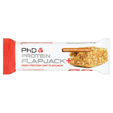 PhD Nutrition Protein Flapjack+ Peanut Butter 75g (Pack of 12)