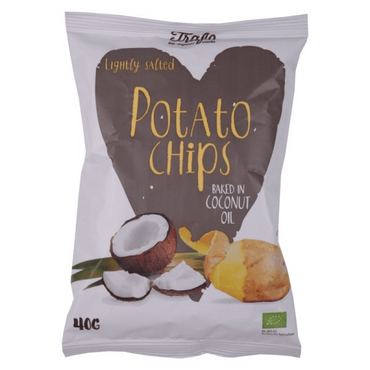 Trafo Organic Chips Fried in Coconut Oil 40g (Pack of 5)