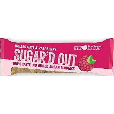 Ma Baker Sugar'd Out No Added Sugar Flapjack - Raspberry (Pack of 16)