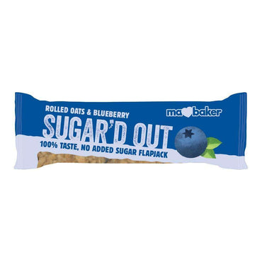 Ma Baker Sugar'd Out No Added Sugar Flapjack - Blueberry (Pack of 16)