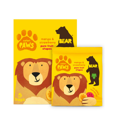 BEAR Safari Paws (Mango & Strawberry) 20g (Pack of 18)