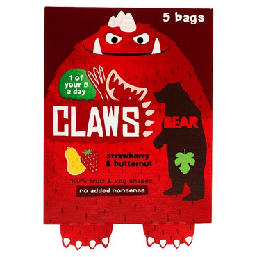 BEARClaws Strawberry & Butternut 18g (Pack of 18)