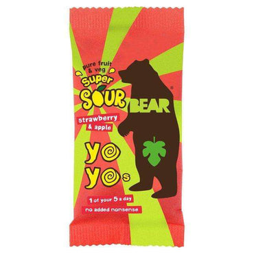 BEARSuper Sour Strawberry & Apple Yoyo 20g (Pack of 18)