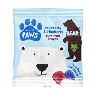 BEAR Paws Raspberry & Blueberry 20g (Pack of 18)