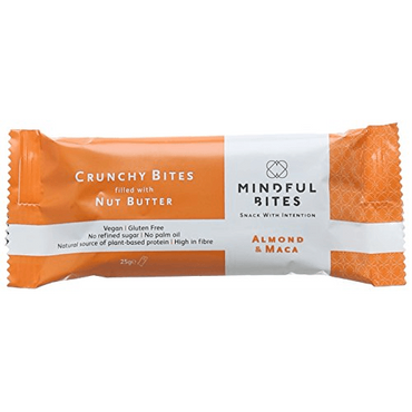 Mindful Bites Crunchy Bites: Almond & Maca 25g (Pack of 24)