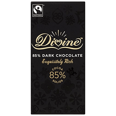 Divine Chocolate Organic Fairtrade ECO Dark 85% Lemon Chocolate (Pack of 2)