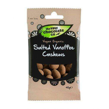 The Raw Chocolate Company Salted Vanoffee Cashews Snack 40g (Pack of 2)