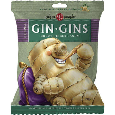 The Ginger People TGP Gin Gin Original Chewy Candy Bag 150gm (Pack of 3)
