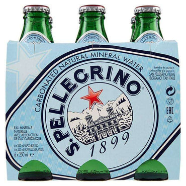 San Pellegrino Natural Mineral Water Sparkling (250mlx6) (Pack of 4)