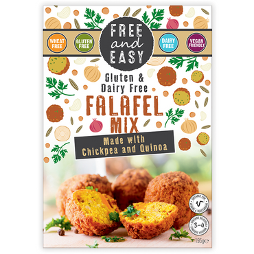 Free & EasyFalafel mix 195g. Free From known allergens. (Pack of 4)