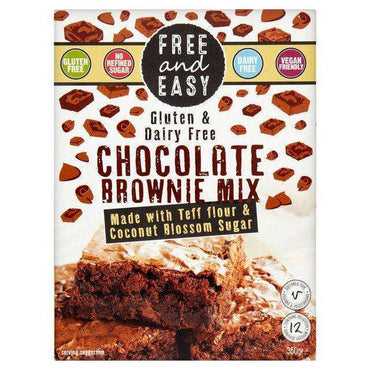 Free & Easy Gluten and Dairy Free Chocolate Brownie Mix 350g (Pack of 4)