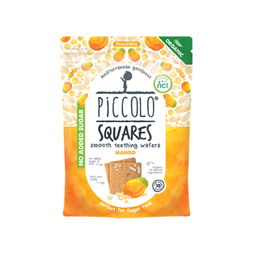 Piccolo Organic Squares Mango 50g (Pack of 4)