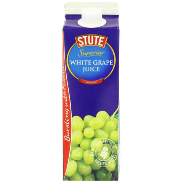 Stute White Grape Juice 1000ml (Pack of 4)