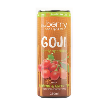 The Berry Company Sparking Goji juice with added ginseng 250ml (Pack of 4)