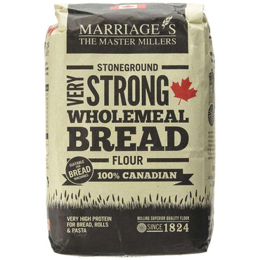 Marriages 100% Canadian Wholemeal Flour Very Strong 1.5kg (Pack of 5)