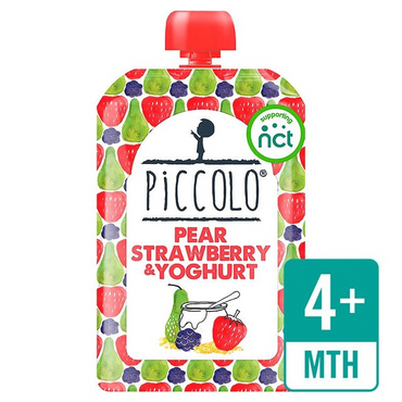 Piccolo Pear  Strawberry & Blackberry Yoghurt 100g (Pack of 5)