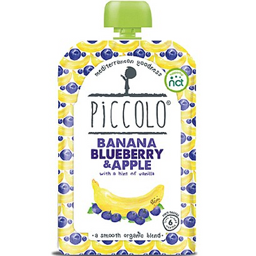 Piccolo Banana  Blueberry & Apple 100g (Pack of 5)