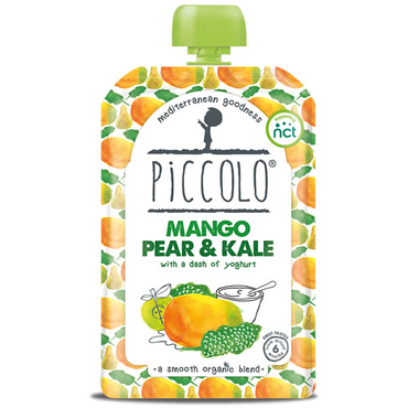 Piccolo Mango  Pear & Kale with Yoghurt 100g (Pack of 5)